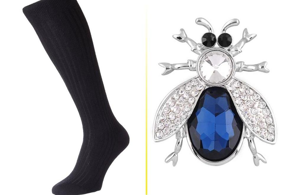Treat Yo Self Day: Cashmere socks or crystal beetle brooch?