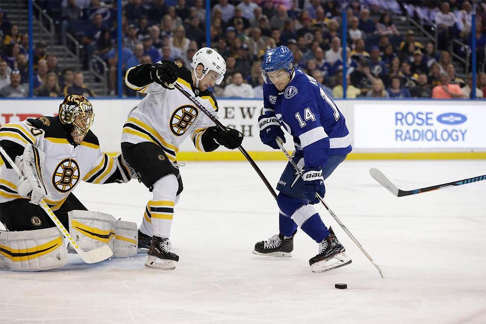 Who survives the second round of the NHL Playoffs: Lightning or Bruins?