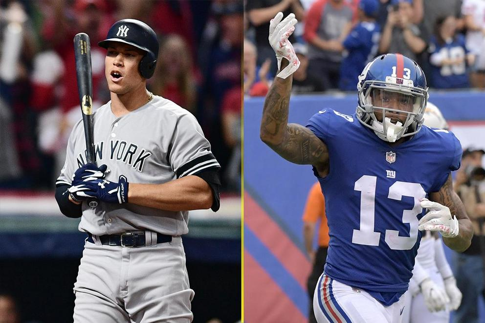 Who is New York's biggest sports star: Aaron Judge vs. Odell Beckham Jr.?