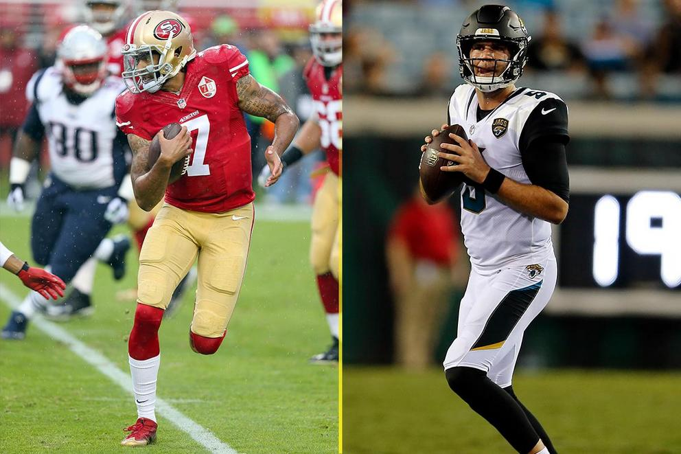 Would you pick Colin Kaepernick to start over Blake Bortles and Chad Henne?